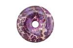 Purple Impression Jasper Donut 30mm