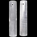 Selenite Long Thin Rectangle Pendant Pair 10x48mm