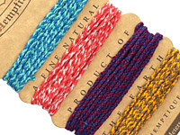 Santa Fe Braided Hemp Twine 2x6 ply, 6.17 ft x 4 colors