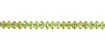 Peridot Tiny Faceted Saucer 2.5-3x4mm