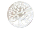 Mother of Pearl Carved Tree of Life Focal 30mm