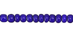 African Trade Beads Cobalt Blue White Heart Glass 4-5x6mm