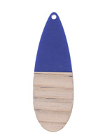 Wood & Indigo Resin Long Teardrop Focal 19x58mm
