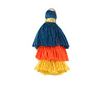 Woodstock Mix Small 3-Tiered Tassel 35mm