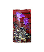 Grace Lampwork Violet Shimmer Kalera 26-27x38-39mm