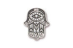 TierraCast Antique Silver (plated) Hamsa Hand Link 17x21mm