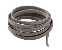 Concrete Microsuede Flat Cord 5mm