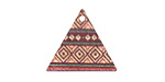 Tapestry Etched & Printed Rose Gold Finish Triangle Focal 22x19mm