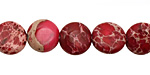 Ruby Impression Jasper Puff Coin 10mm