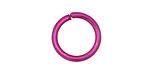 Violet Anodized Aluminum Jump Ring 18mm, 12 gauge (13.1mm inside diameter)