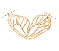 Zola Elements Matte Gold Finish Openwork Butterfly Wing Focal Link 49x27mm