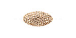 Light Peach Pave (w/ Preciosa Crystals) Rice 19x10mm (1.5mm hole)