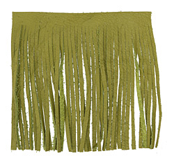 Fern Leather Tassel Fringe 5 inch square