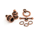 TierraCast Antique Copper (plated) Pagoda 4mm Cord End Set