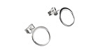 Nina Designs Sterling Silver Small Open Circle Post Earring w/ Back 10mm