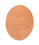 Copper Oval Blank 38x48mm