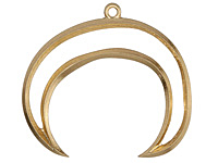 Zola Elements Matte Gold (plated) Large Open Crescent Focal 54x48mm