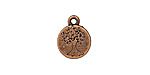 Antique Copper (plated) Stamped Tree of Life Charm 12mm