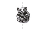Green Girl Pewter Cuddly Cat 14x17mm