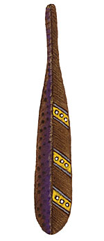 Tree Wings Studio Violet Large Leather Feather (right) 21x115mm