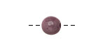 Tagua Nut Violet Round 9mm