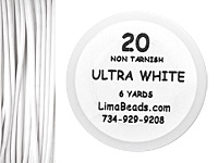 Parawire Ultra White 20 Gauge, 6 Yards