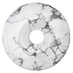 White Howlite Donut 50mm