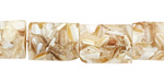 Shell Mosaic (champagne) Thin Pillow 18x13mm