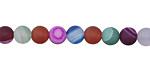 Multi-Color Agate Mix (matte) Round 6mm