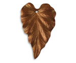 Vintaj Artisan Copper Woodland Leaf Pendant 23x38mm