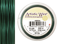 Artistic Wire Green 22 gauge, 15 yards