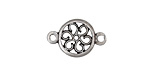 Greek Pewter Flower Link 20x12mm