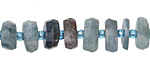 Kyanite Faceted Wheel 3-6x8-12mm