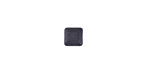 Matte Black Resin Square Cabochon 6mm