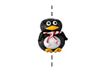 Grace Lampwork Penguin Focal 15x17mm