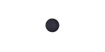 Matte Black Resin Round Cabochon 6.5mm