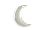 Vintaj Antique Sterling Silver (plated) Crescent Moon Blank 16x23mm