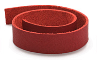 "TierraCast Red Leather Strap 10"" x 1/2"""