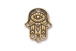 TierraCast Antique Gold (plated) Hamsa Hand Link 17x21mm