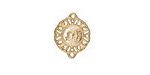 Zola Elements Matte Gold (plated) Ironwork Medallion Focal Link 12x15mm