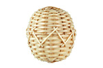 Natural Rattan-Style Woven Basket Round Focal 20-21x22-25mm