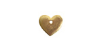 Nunn Design Antique Gold (plated) Flat Small Heart Tag 12x11mm