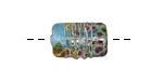 A Beaded Gift Dusted Cyan Raku Small Kalera 17-18x11-12mm