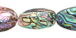 Abalone Freeform Puff Oval 22-28x15-18mm