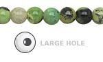 China Chrysoprase Round (Large Hole) 8mm