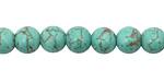 Turquoise Magnesite w/ Matrix Round 8mm