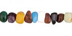 Multi Gemstone Nugget 4-8x7-10mm