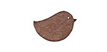 Lillypilly Golden Brown Leather Right Facing Chickadee 14x22mm