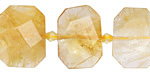 Citrine Faceted Flat Slab 14-16x20-24mm