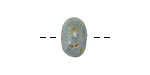 Gaea Ceramic Robin's Egg on Buff Rondelle 8-10x13-16mm